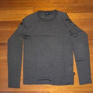 Hugo Boss Men's Grey Slim Fit Long Sleeve Shirt